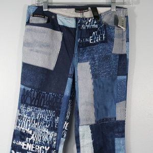 NWT DKNY Ice Queen Jeans Patchwork